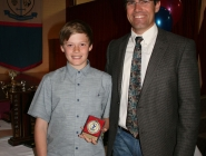 Cooper Andrews (U13 Boys Team 2) & Doug Lush (Manager)