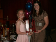 Emily Manhire (U13 Girls Team 1) & Kirsty Tolputt (Coach)