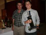 James Lush (U15 Boys Team 1) & Chris Weedon (THA Life Member)