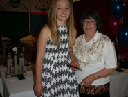 Jess White (Under 15 Girls Team 2) & June Day (THA Life Member)