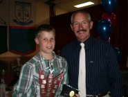 Tom Burge (U13 Boys Team 1) & George Goodsell (THA Life Member)